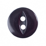 Fish Eye Button - Colour 012 Burgundy - Choose Size 11mm-19mm